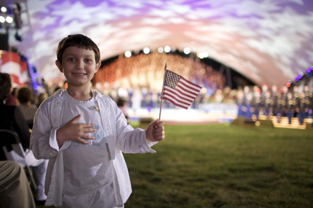 Boy with American Flag